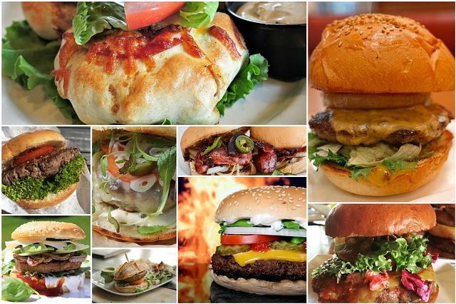 hamburger koláž