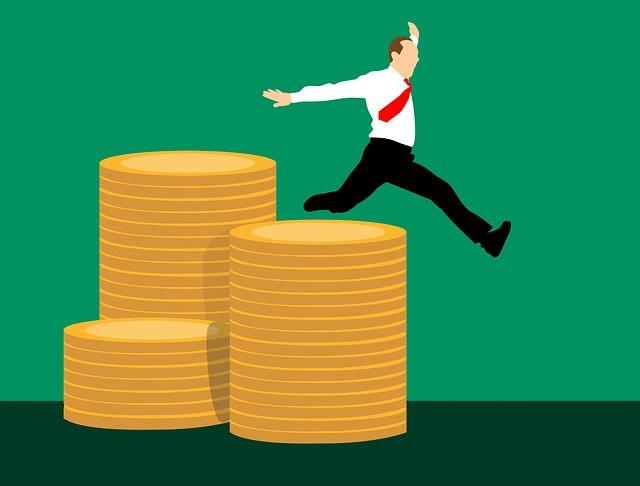 skok nad mincemi