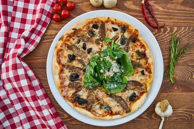 pizza se špenátem