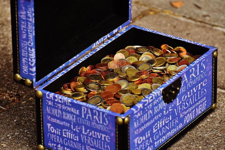 krabice mincí