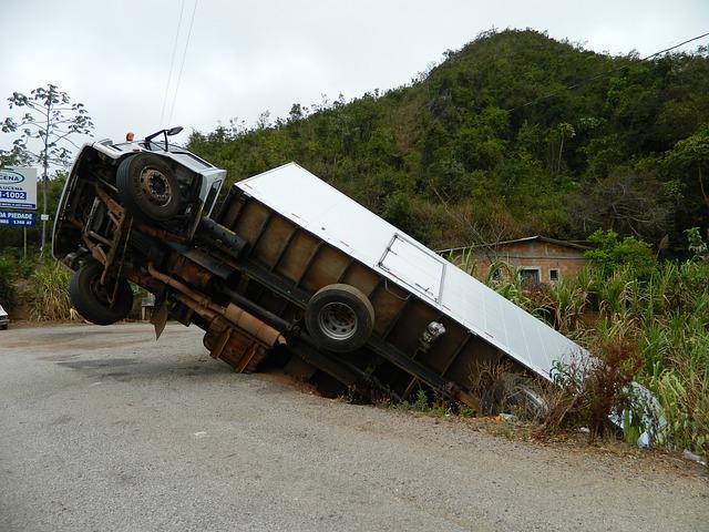 nehoda nákladního automobilu
